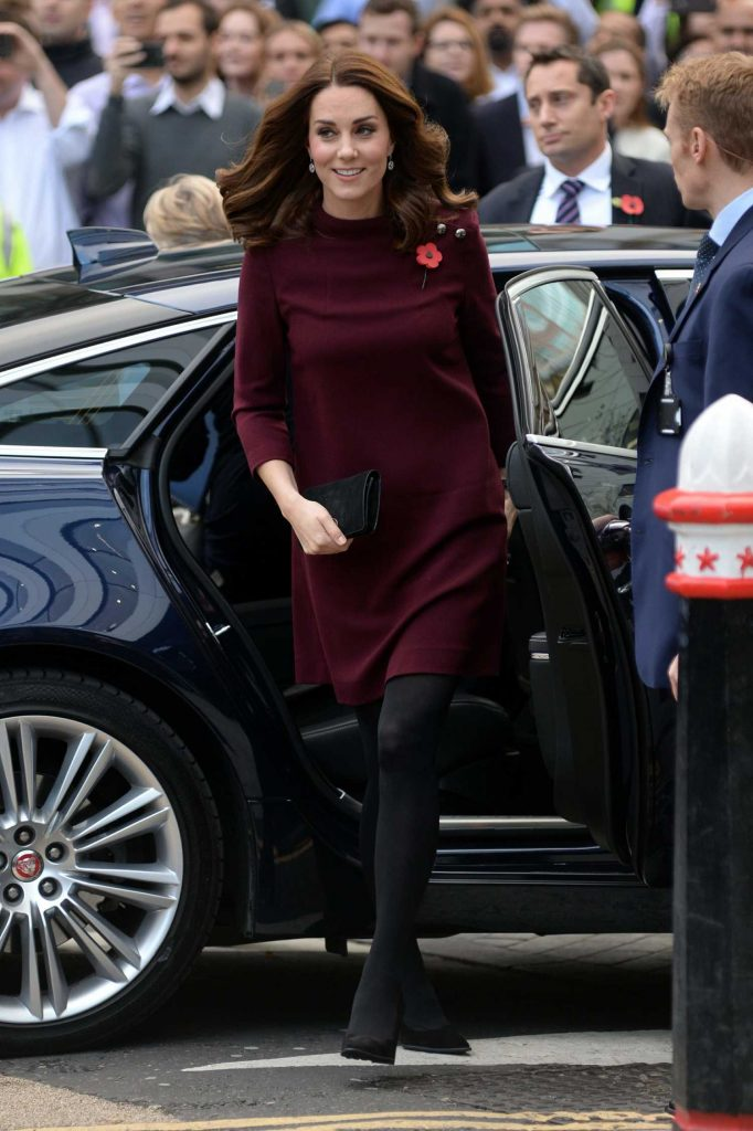 Kate Middleton Arrives at UBS Building in London-2