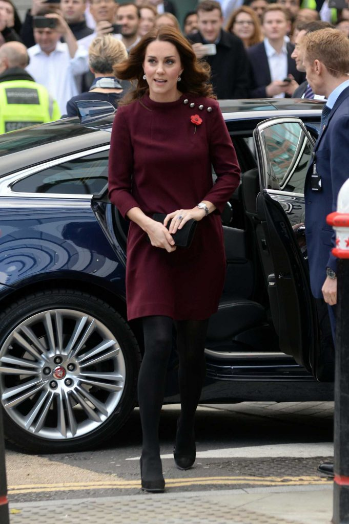 Kate Middleton Arrives at UBS Building in London-3