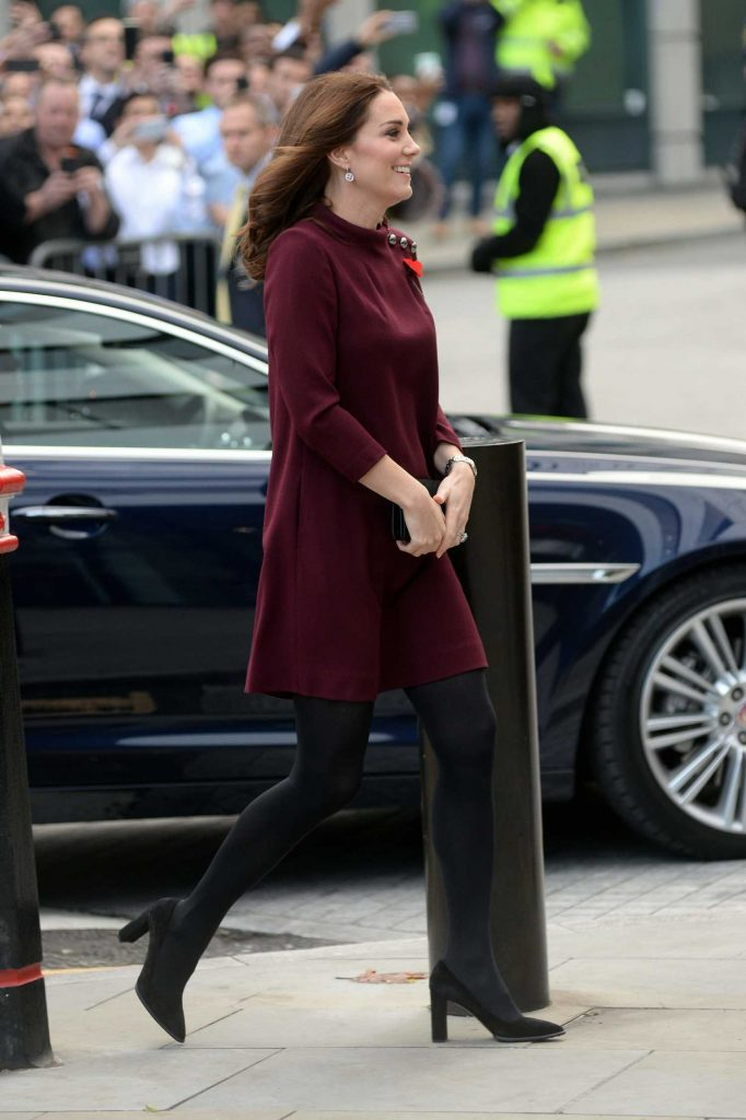 Kate Middleton Arrives at UBS Building in London-5