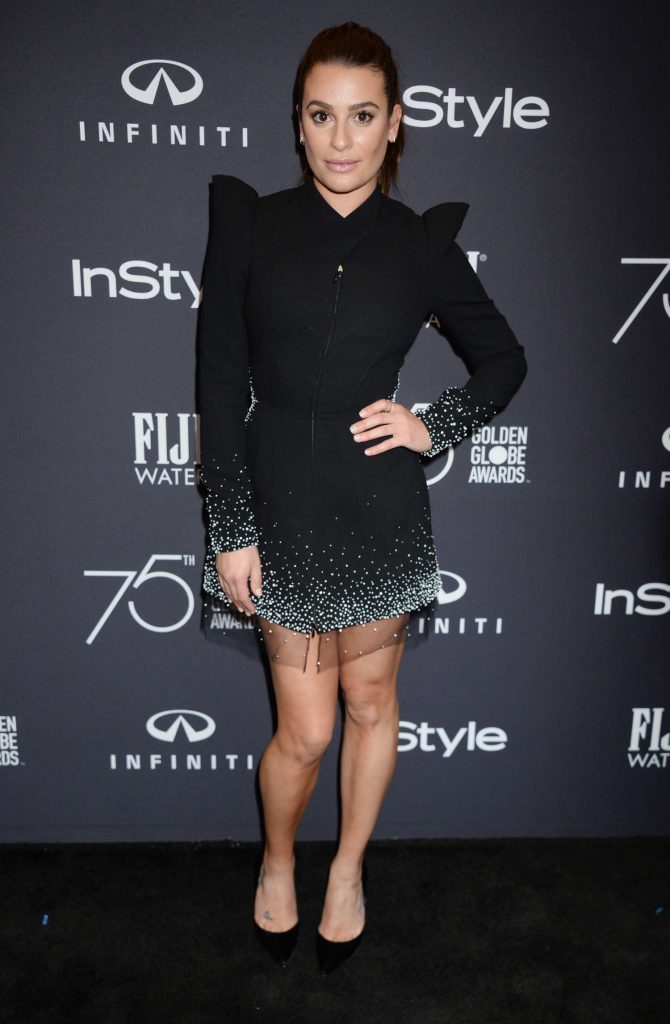 Lea Michele at the HFPA and InStyle Celebrate the 75th Anniversary of The Golden Globe Awards at Catch LA-1