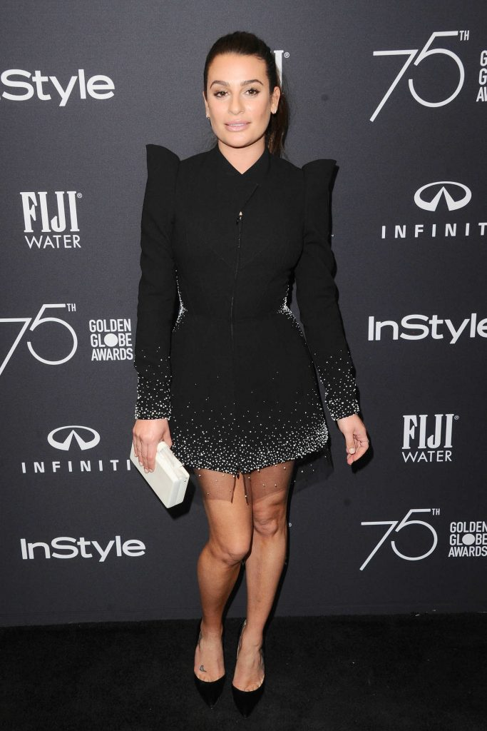 Lea Michele at the HFPA and InStyle Celebrate the 75th Anniversary of The Golden Globe Awards at Catch LA-2