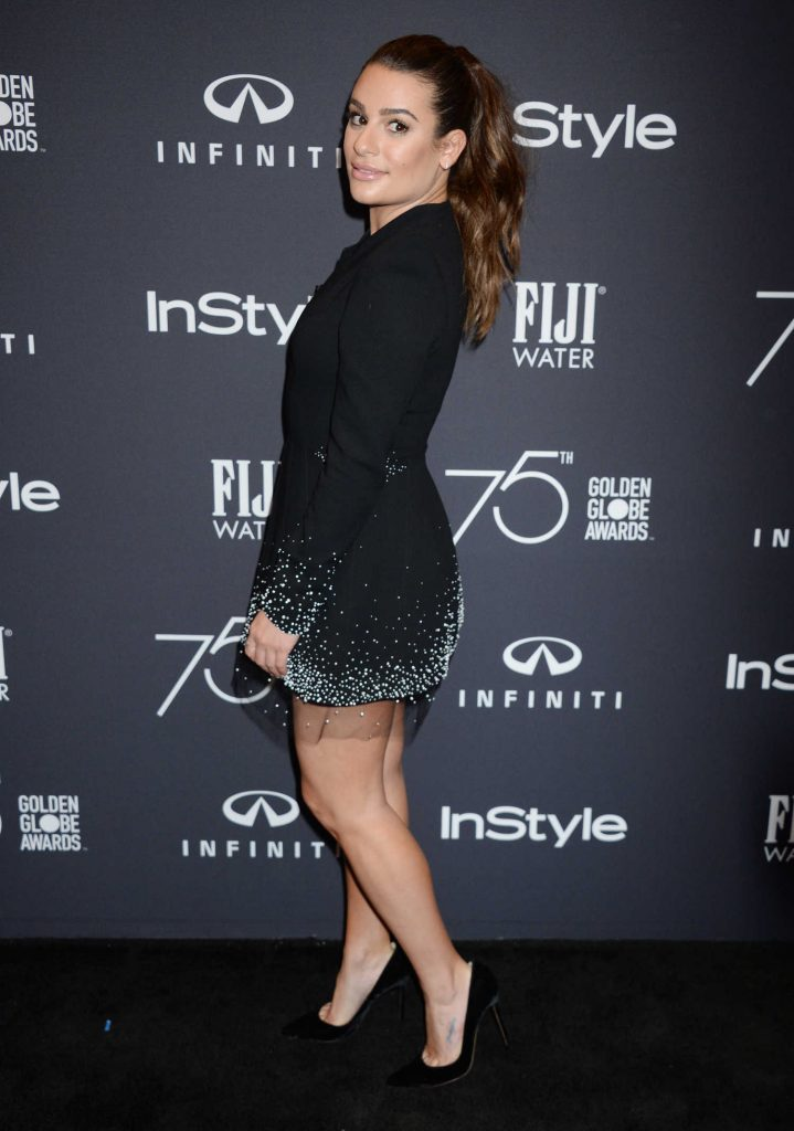 Lea Michele at the HFPA and InStyle Celebrate the 75th Anniversary of The Golden Globe Awards at Catch LA-3