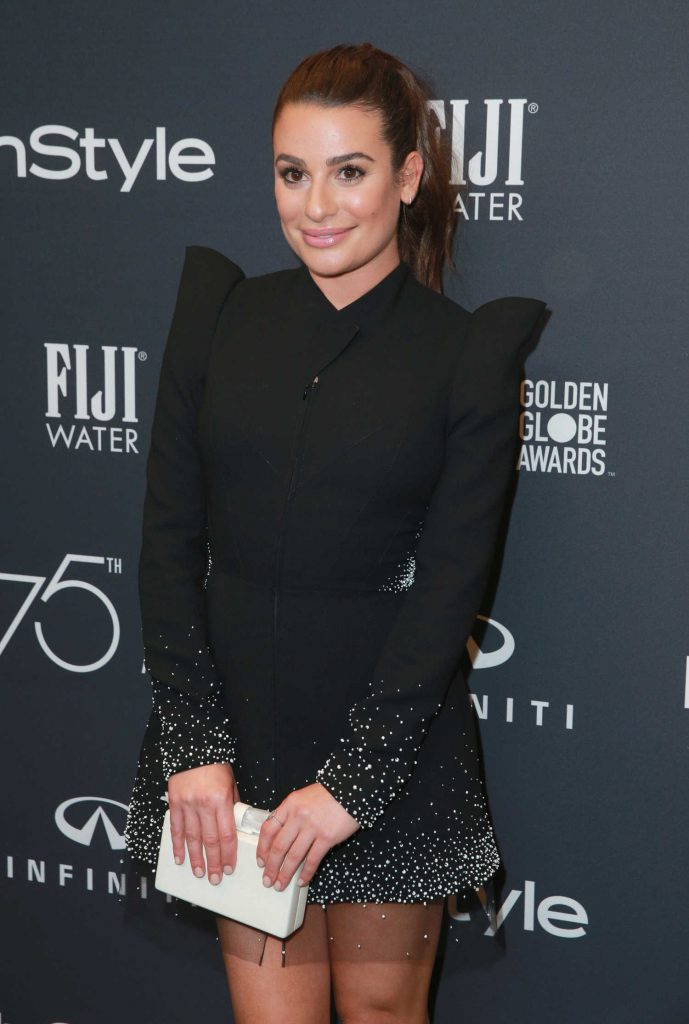 Lea Michele at the HFPA and InStyle Celebrate the 75th Anniversary of The Golden Globe Awards at Catch LA-4