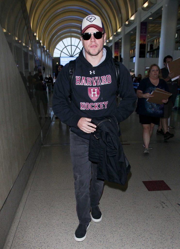 Matt Damon Was Seen at LAX Airport in LA-3