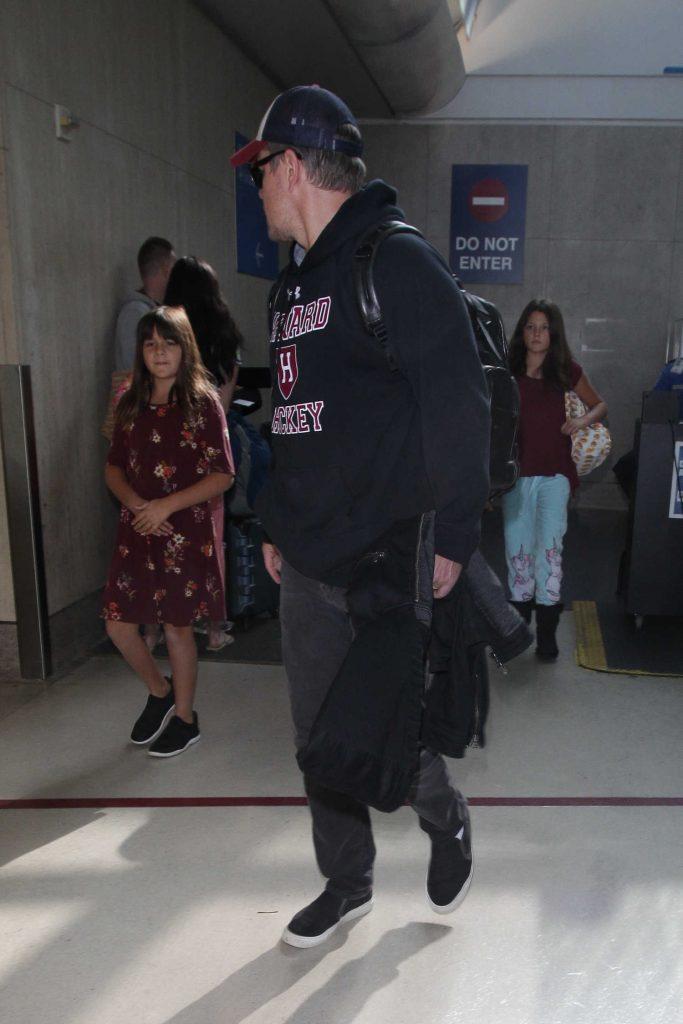 Matt Damon Was Seen at LAX Airport in LA-5