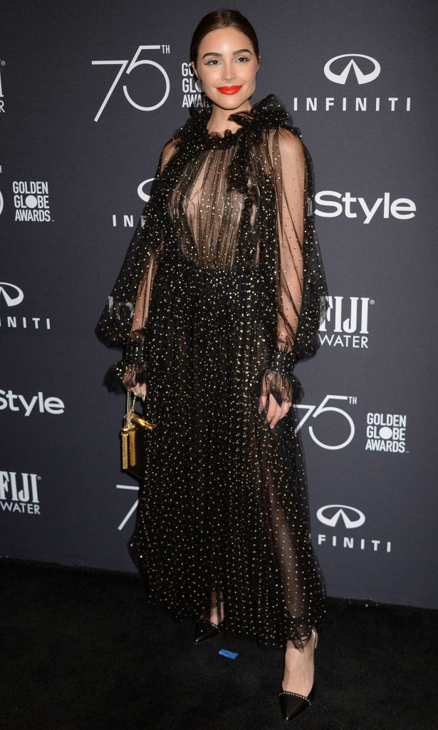 Olivia Culpo at the HFPA and InStyle Celebrate the 75th Anniversary of The Golden Globe Awards at Catch LA-2
