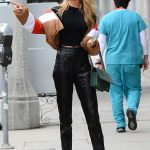 Romee Strijd Leaves the Ivy Restaurant in West Hollywood