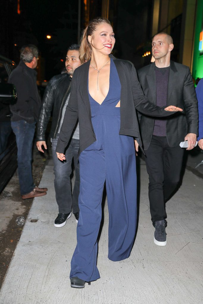 Ronda Rousey Leaves the Xbox One X Launch in New York-5