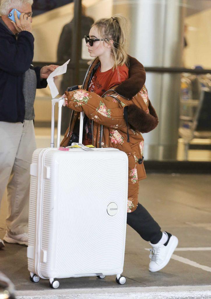 Sabrina Carpenter at LAX Airport in Los Angeles-4