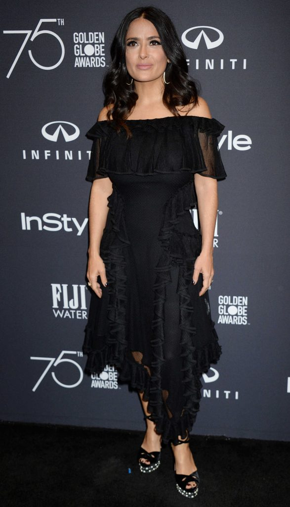 Salma Hayek at the HFPA and InStyle Celebrate the 75th Anniversary of The Golden Globe Awards at Catch LA-1