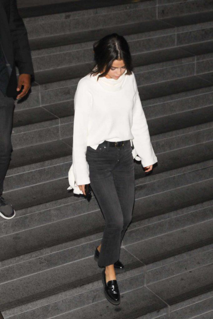 Selena Gomez Wears a White Sweater out in LA-4