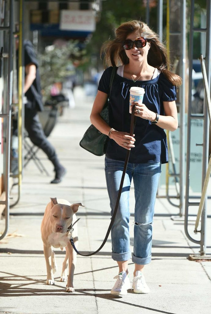 Selma Blair Goes to the Hair Salon With Her Dog Cappy in Los Angeles-1