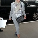 Sharon Stone Arrives at LAX Airport in Los Angeles