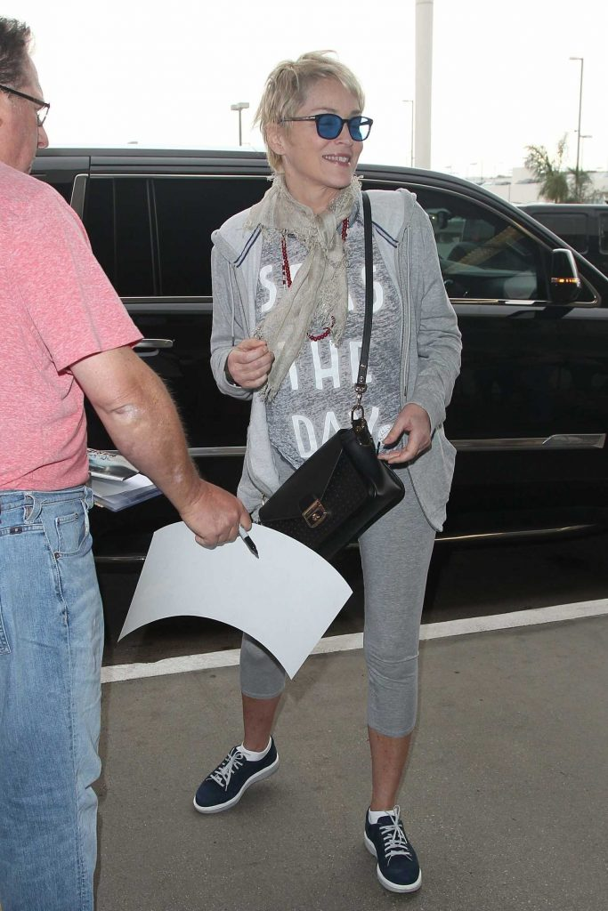 Sharon Stone Arrives at LAX Airport in Los Angeles-3