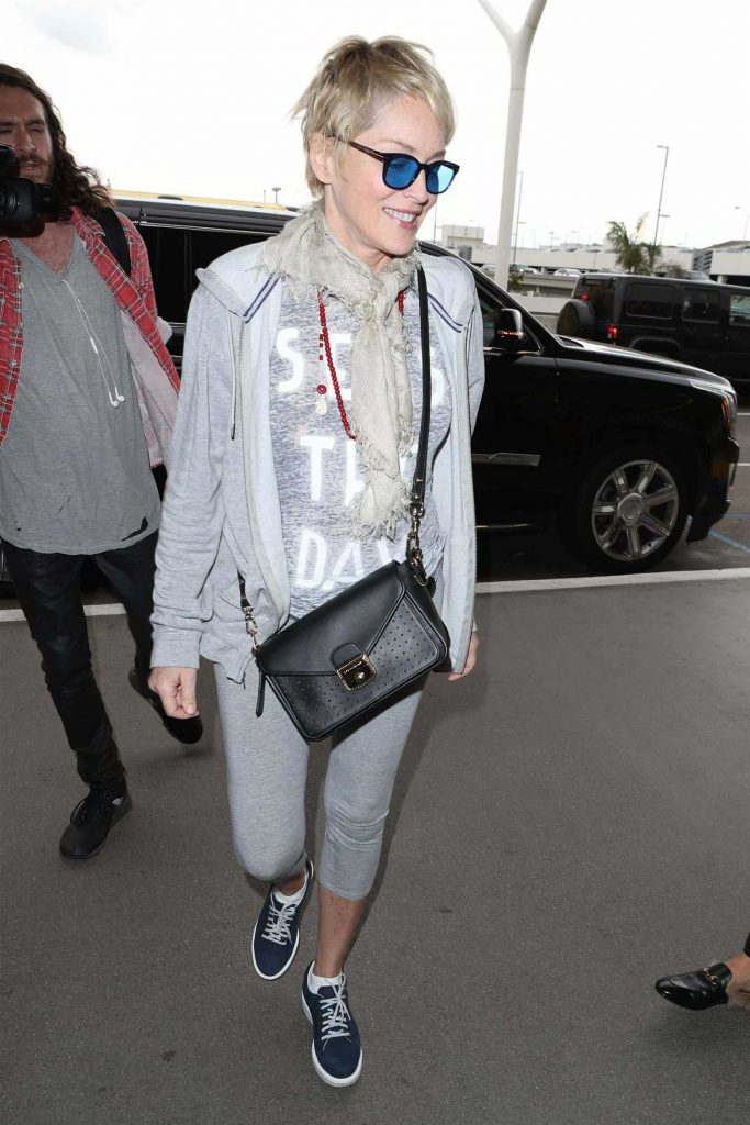 Sharon Stone Arrives at LAX Airport in Los Angeles-4
