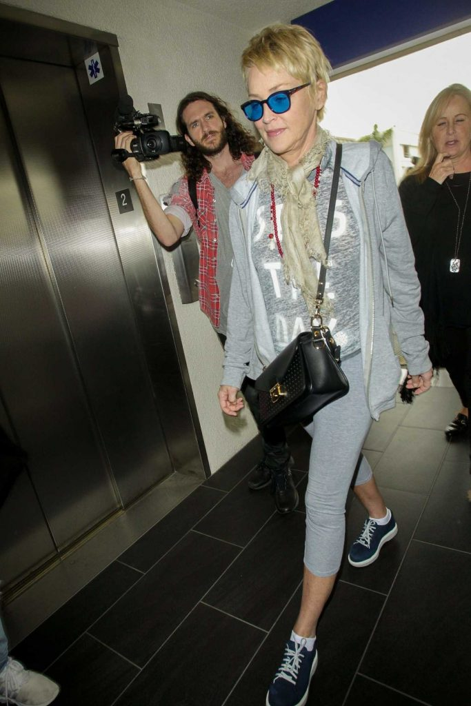 Sharon Stone Arrives at LAX Airport in Los Angeles-5