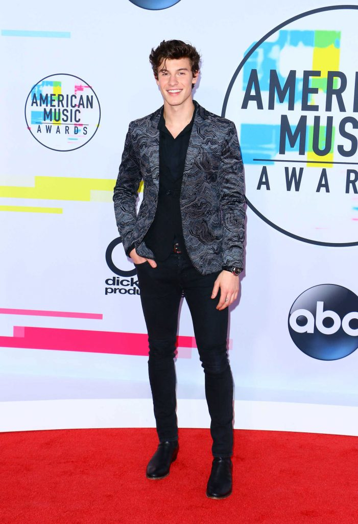 Shawn Mendes at 2017 American Music Awards at the Microsoft Theater in Los Angeles-1