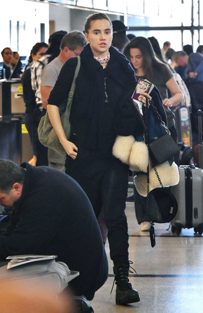 Suki Waterhouse at LAX Airport in LA-1