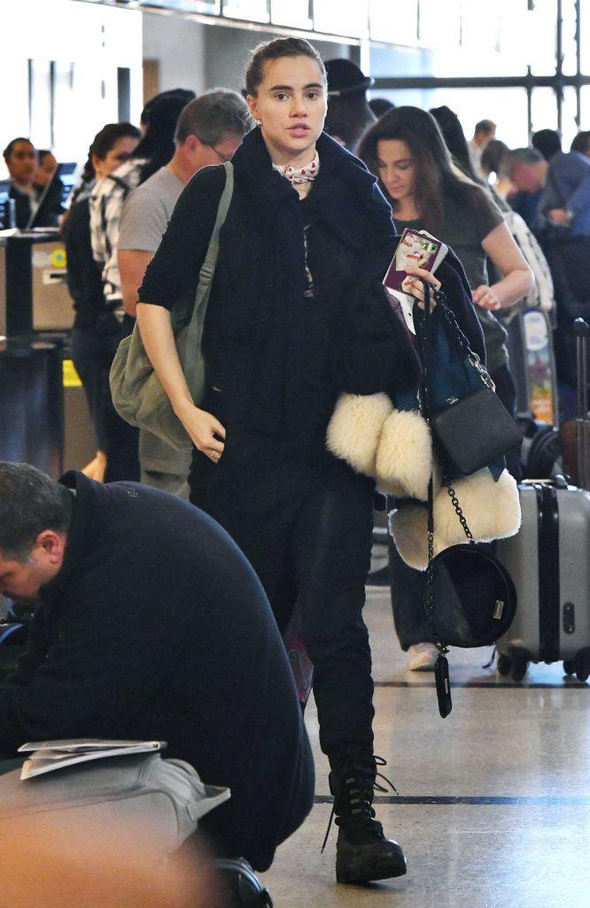 Suki Waterhouse at LAX Airport in LA-1