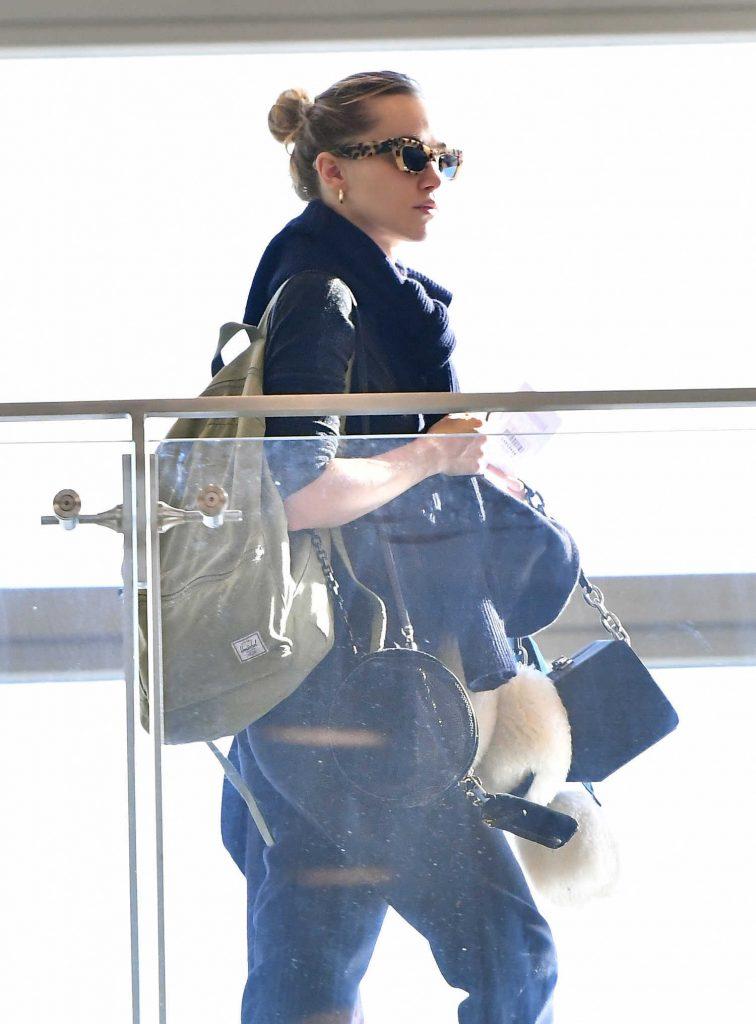 Suki Waterhouse at LAX Airport in LA-4