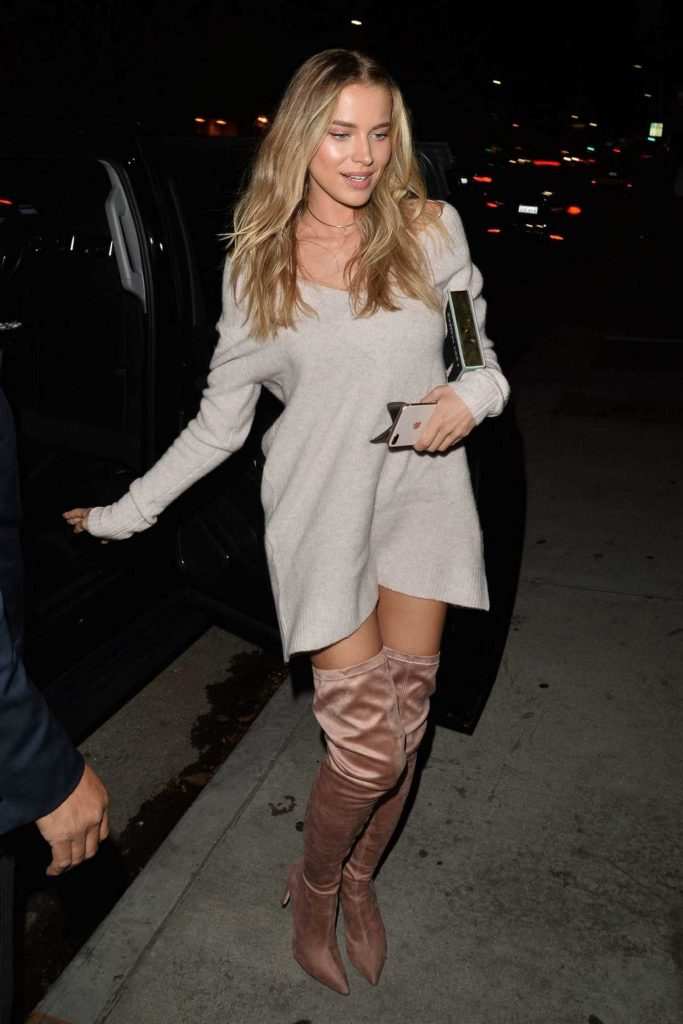 Tanya Mityushina Arrives at Chrissy Teigen Revolve Launch Party in Los Angeles-1