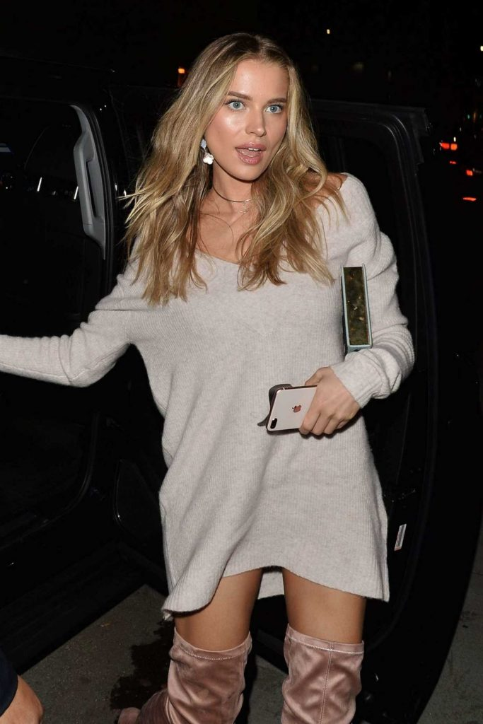 Tanya Mityushina Arrives at Chrissy Teigen Revolve Launch Party in Los Angeles-3