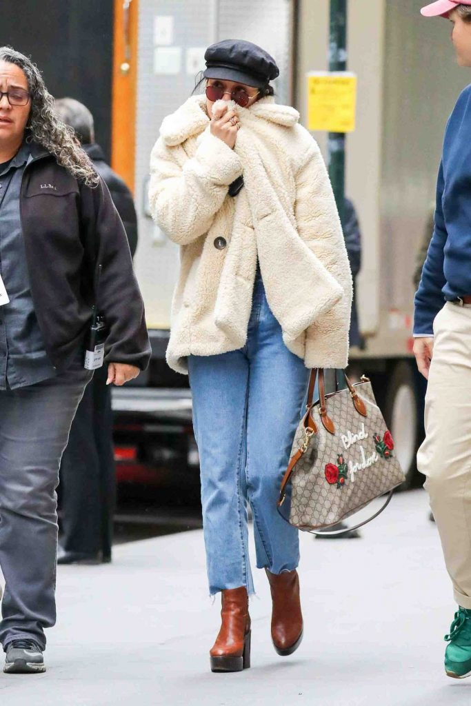 Vanessa Hudgens Braves the Cold Weather in NYC-1