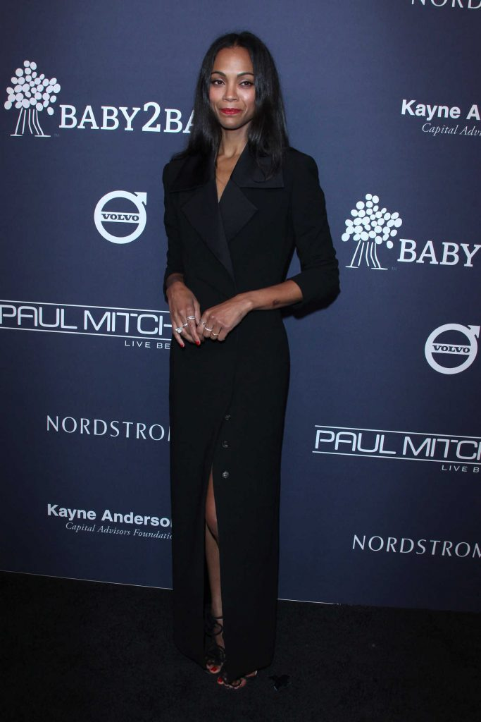 Zoe Saldana at Baby2Baby Gala at 3Labs in Culver City-2