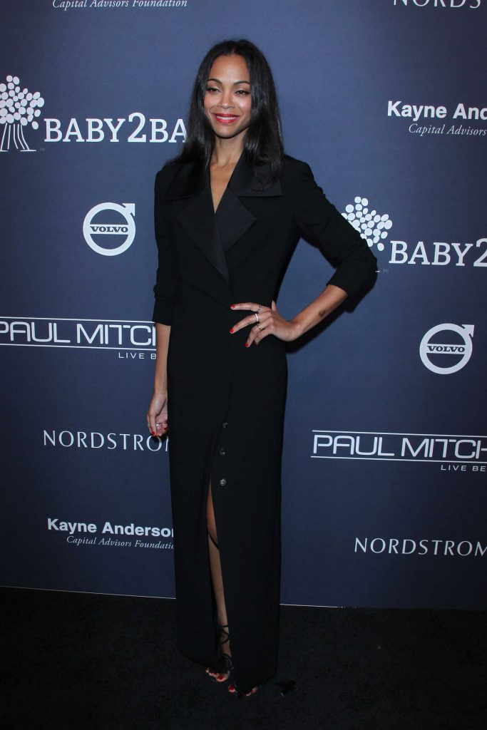 Zoe Saldana at Baby2Baby Gala at 3Labs in Culver City-3
