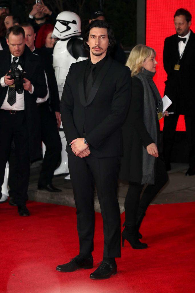 Adam Driver at the Star Wars: The Last Jedi Premiere in London-1