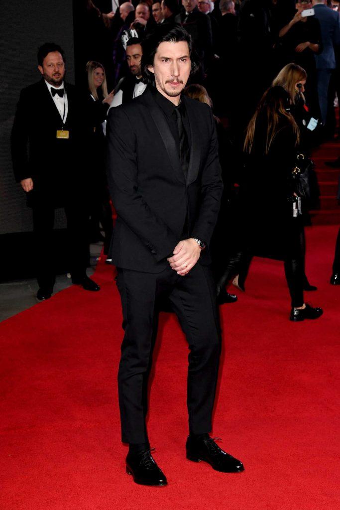 Adam Driver at the Star Wars: The Last Jedi Premiere in London-2