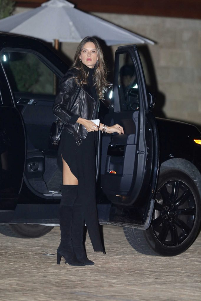 Alessandra Ambrosio Arrives at a Dinner with a Friend in LA-1