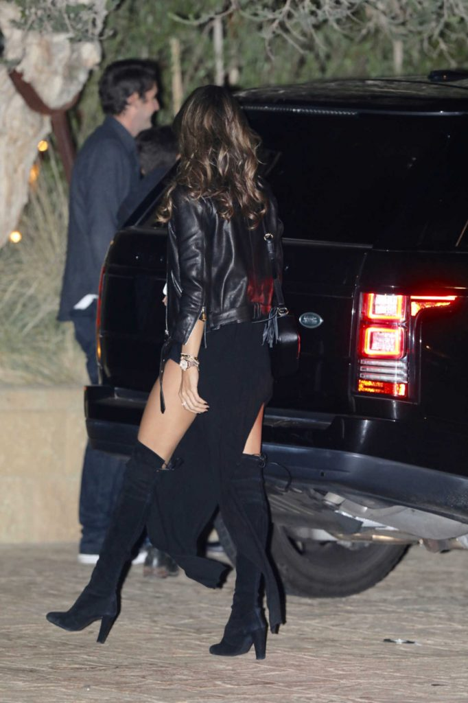 Alessandra Ambrosio Arrives at a Dinner with a Friend in LA-5