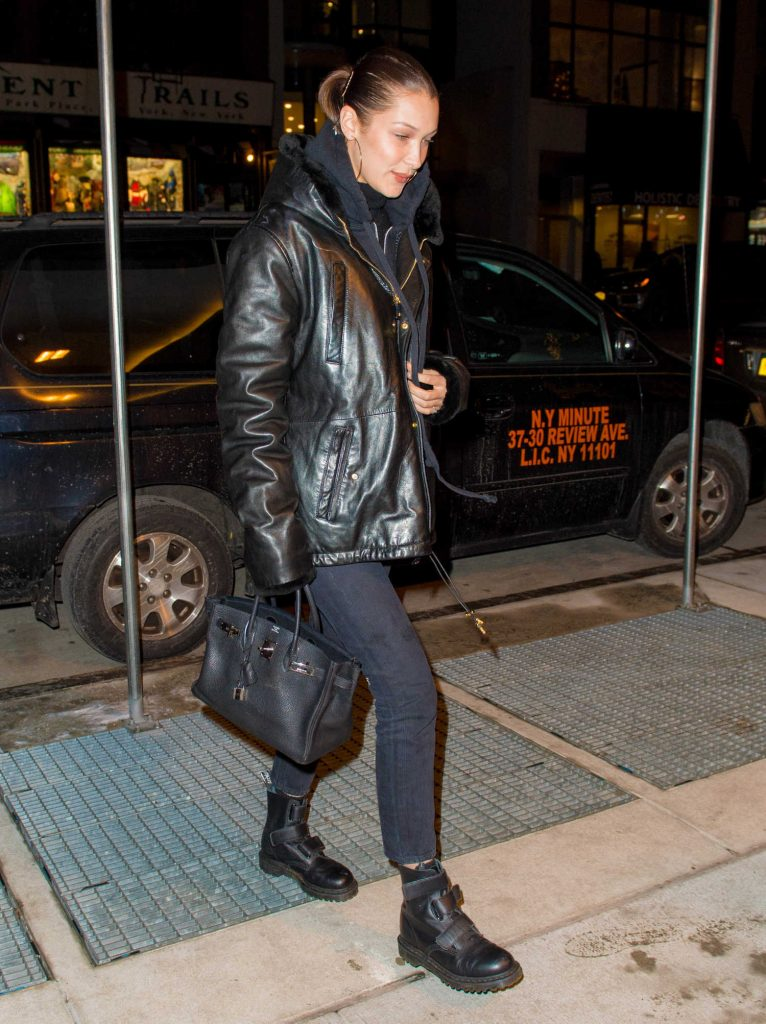 Bella Hadid Walks Home from Dinner at Gemma in NYC-2