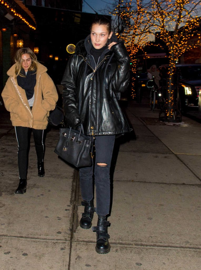 Bella Hadid Walks Home from Dinner at Gemma in NYC-3