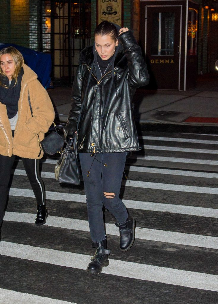 Bella Hadid Walks Home from Dinner at Gemma in NYC-4