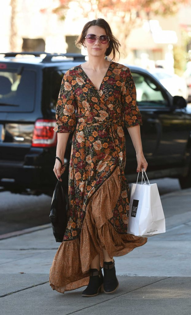 Bethany Joy Lenz Wears a Long Dress to Pick up Lunch in LA-1