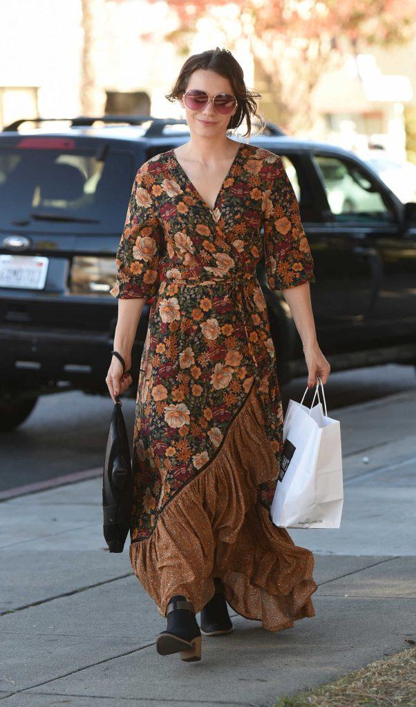 Bethany Joy Lenz Wears a Long Dress to Pick up Lunch in LA-2