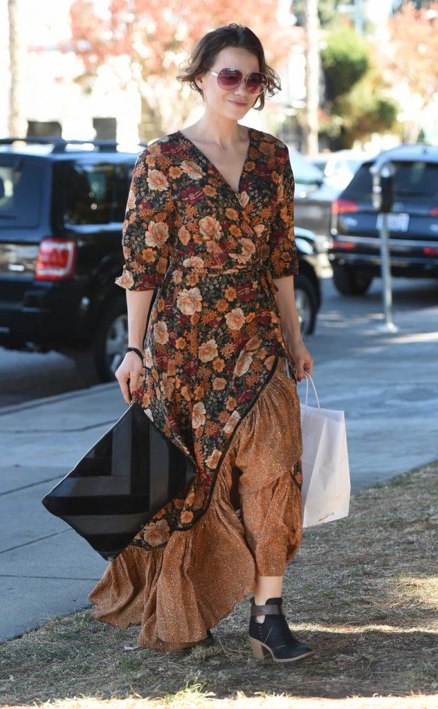 Bethany Joy Lenz Wears a Long Dress to Pick up Lunch in LA-3