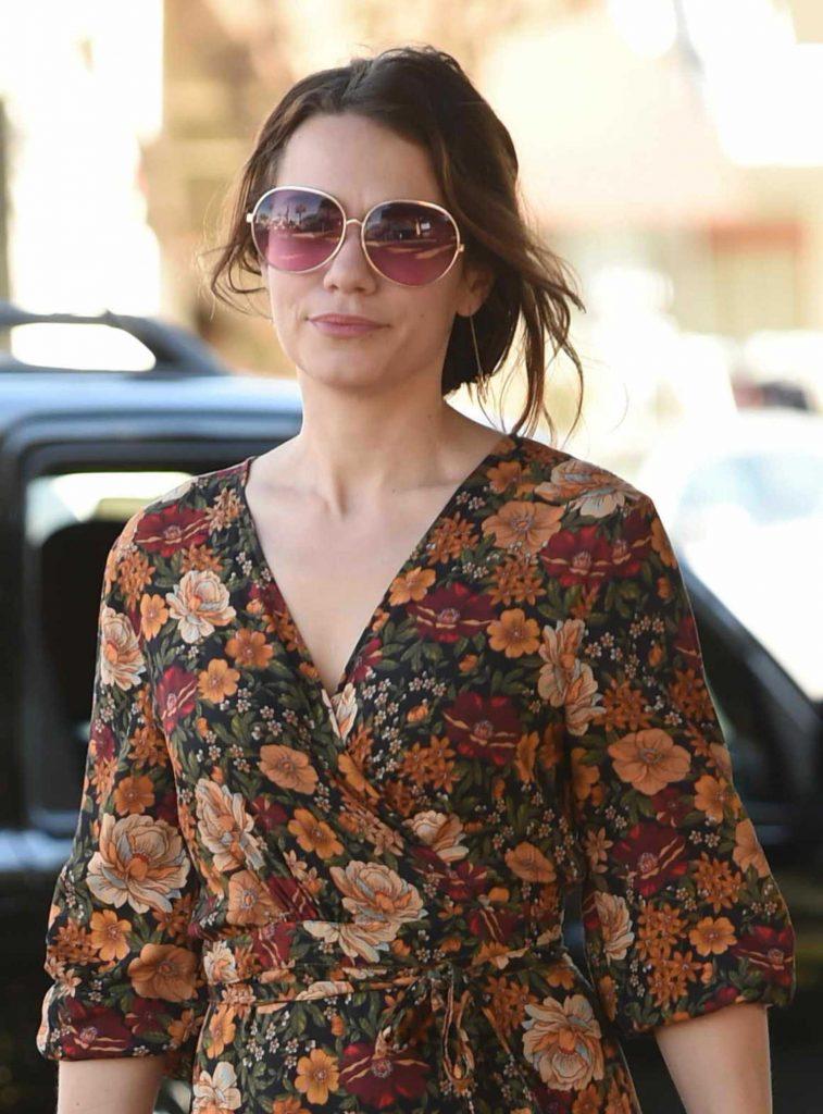 Bethany Joy Lenz Wears a Long Dress to Pick up Lunch in LA-5