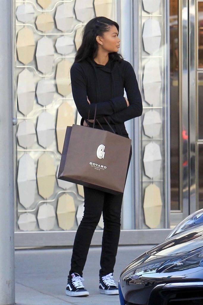 Chanel Iman Goes Shopping in Beverly Hills-1