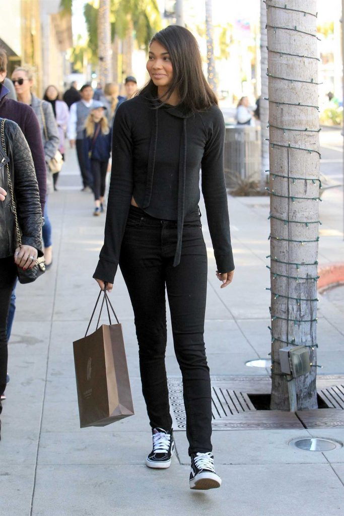 Chanel Iman Goes Shopping in Beverly Hills-4