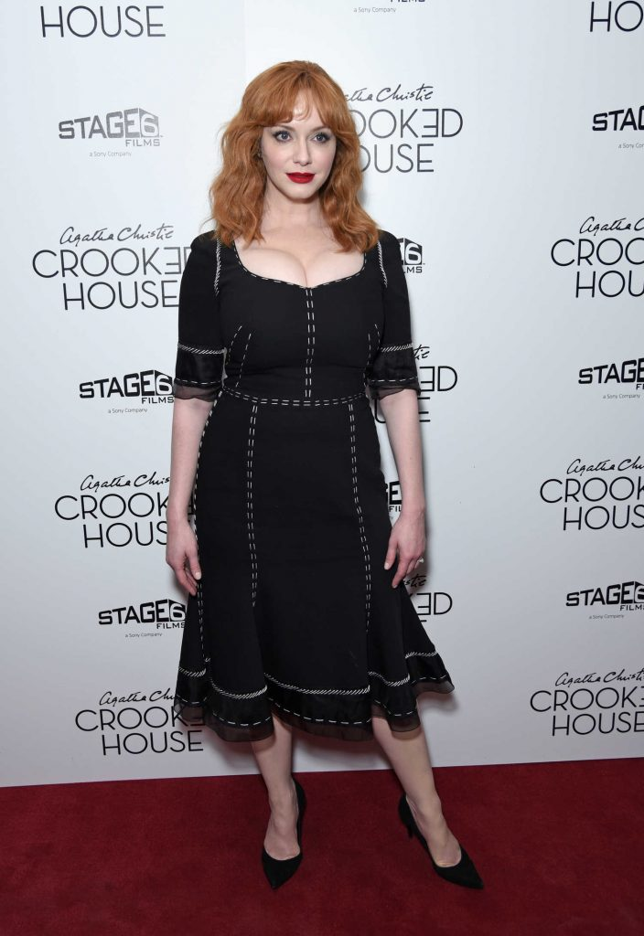 Christina Hendricks at the Crooked House NYC Premiere at Metrograph in New York-1