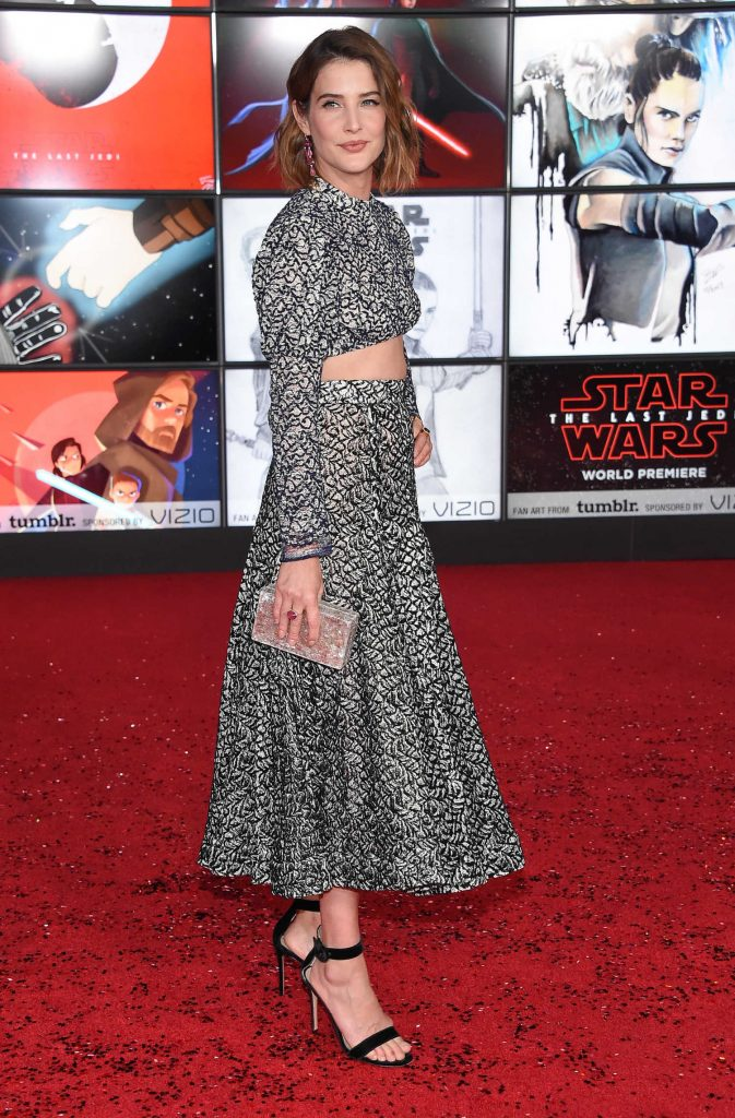 Cobie Smulders at the Star Wars: The Last Jedi Premiere in Los Angeles-3