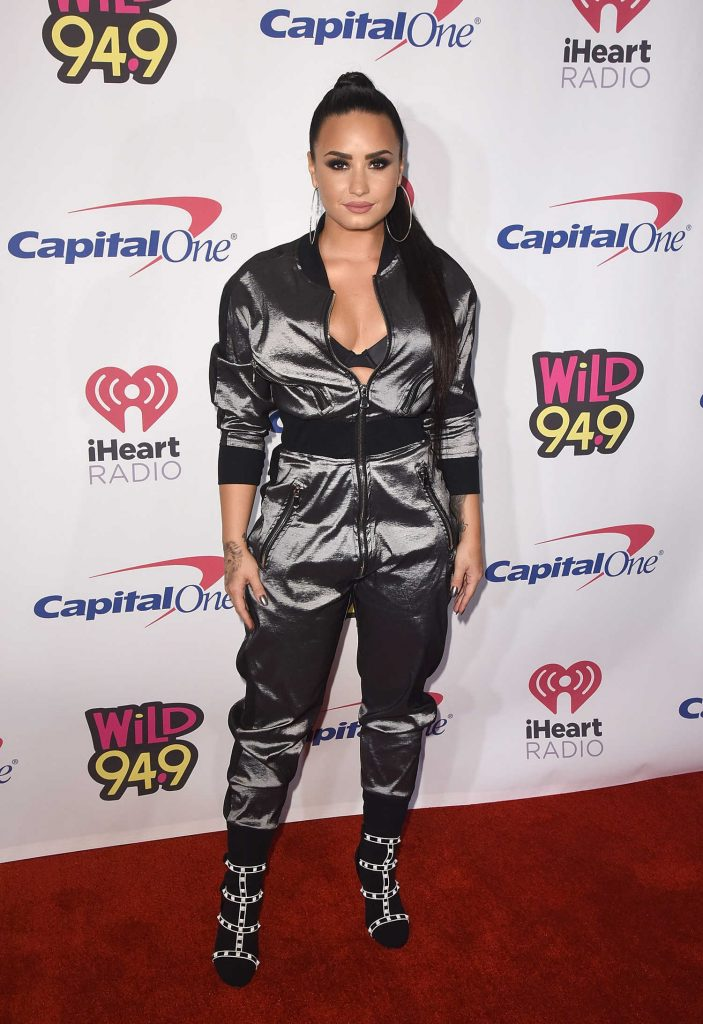 Demi Lovato at the WiLD 94.9's FM's 2017 Jingle Ball at SAP Center in San Jose-1
