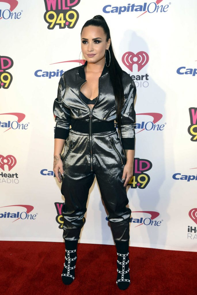 Demi Lovato at the WiLD 94.9's FM's 2017 Jingle Ball at SAP Center in San Jose-2