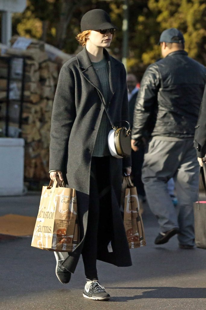 Emma Stone Goes Grocery Shopping in Beverly Hills-2
