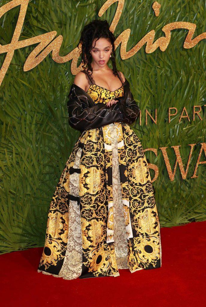 FKA Twigs at 2017 British Fashion Awards at the Royal Albert Hall in London 12/04/2017-2