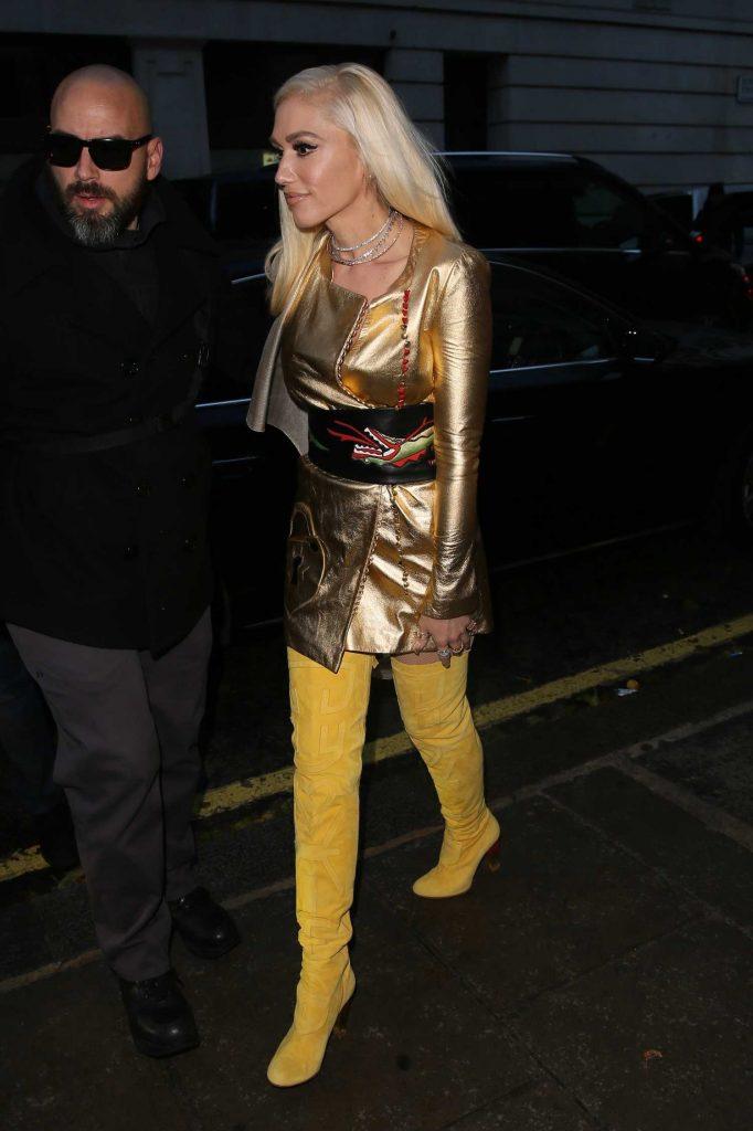 Gwen Stefani Arrives at BBC Radio 2 Studios in London-1