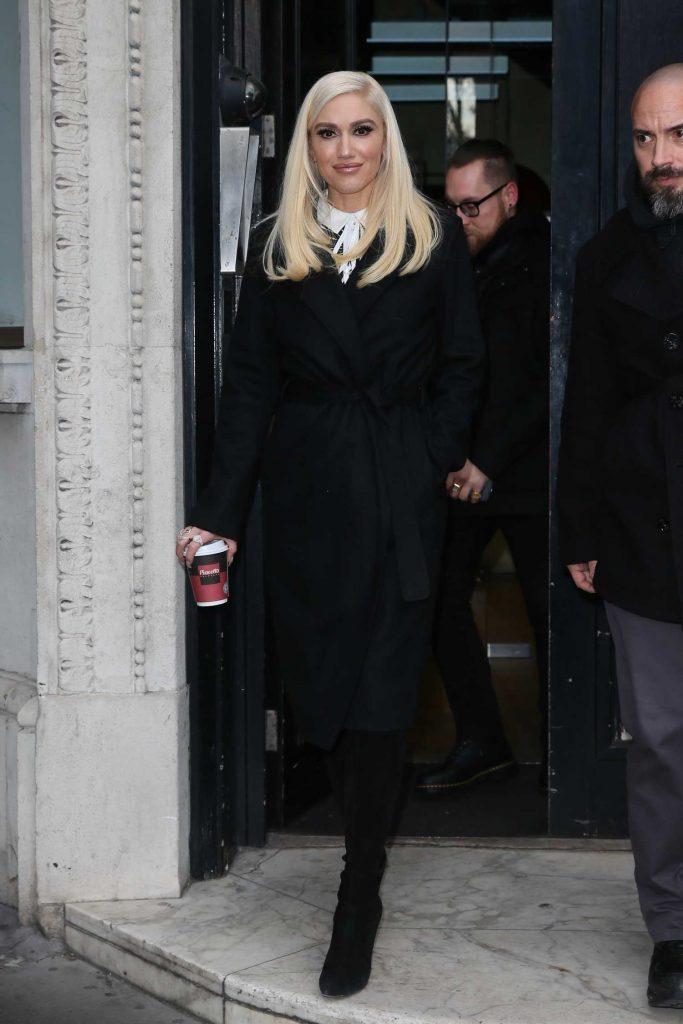Gwen Stefani Leaves Kiss FM studios in London-1